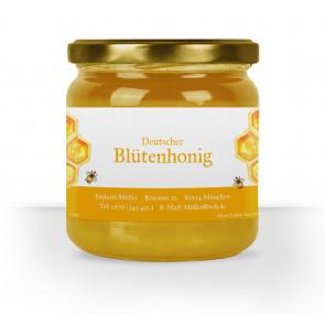 """Honigglas-Etikett """"Dicke Biene"""" gelb"""