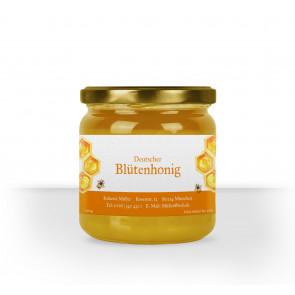 """Honigglas-Etikett """"Dicke Biene"""" in orange"""