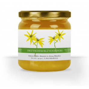 """Honigglas-Etiketten """"Floral"""" grün"""