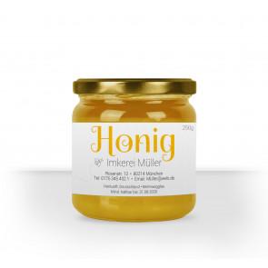"""Kleine Honigglas-Etiketten """"Honigzauber"""""""