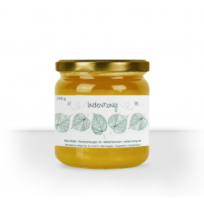 Kleines Honigglasetikett Lindenhonig