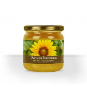 """Kleine Honigglas-Etiketten """"Sunpower"""" in Braun"""