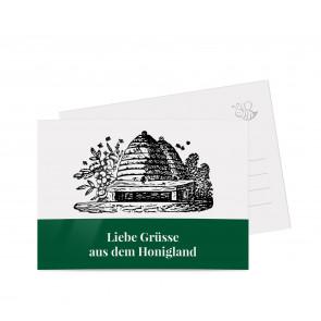 "Grußkarten ""Bienenhaus"" dunkelgrün"