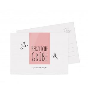 """Grußkarten """"Blütenhonig"""" rosa"""