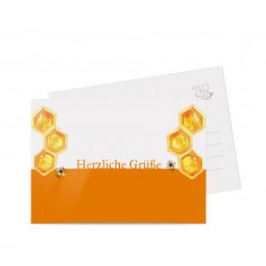 "Grußkarten ""Dicke Biene"" orange"
