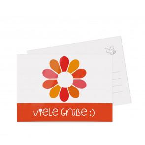 """Grußkarten """"Flowerpower"""" rot"""
