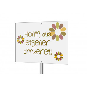 "Aluverbundschild ""Flowwerpower"""