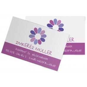 "Visitenkarten ""Flowerpower"" lila"