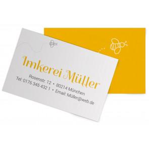 "Visitenkarten ""Honigzauber"" gelb"