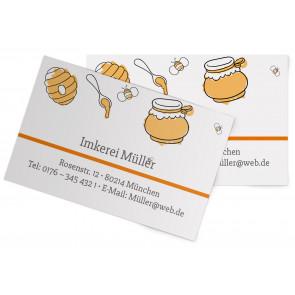 """Visitenkarten """"The Bee"""" orange"""
