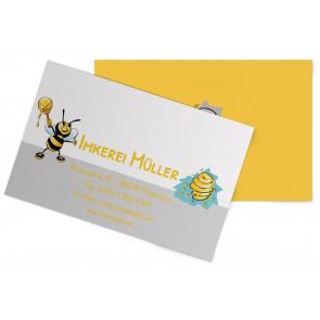 """Visitenkarten """"Wilde Maja"""" gelb"""
