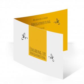 "Einladungskarte im Design ""Blütenhonig"""