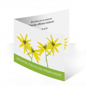Einladungskarten Floral (grün)