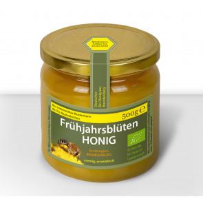 """Gewährverschlussetikett """"Pollen-Queen"""" auf Honigglas"""