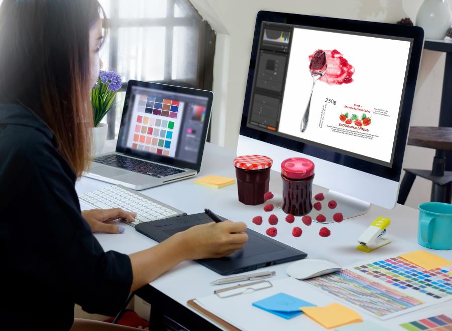 Grafikdesign-Service für Marmeladenetiketten
