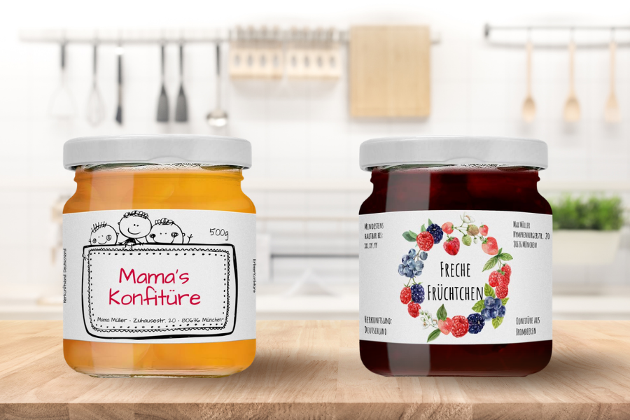 Etikettendesign für Marmelade